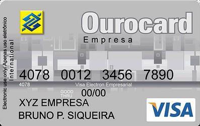 cartão Ourocard Visa
